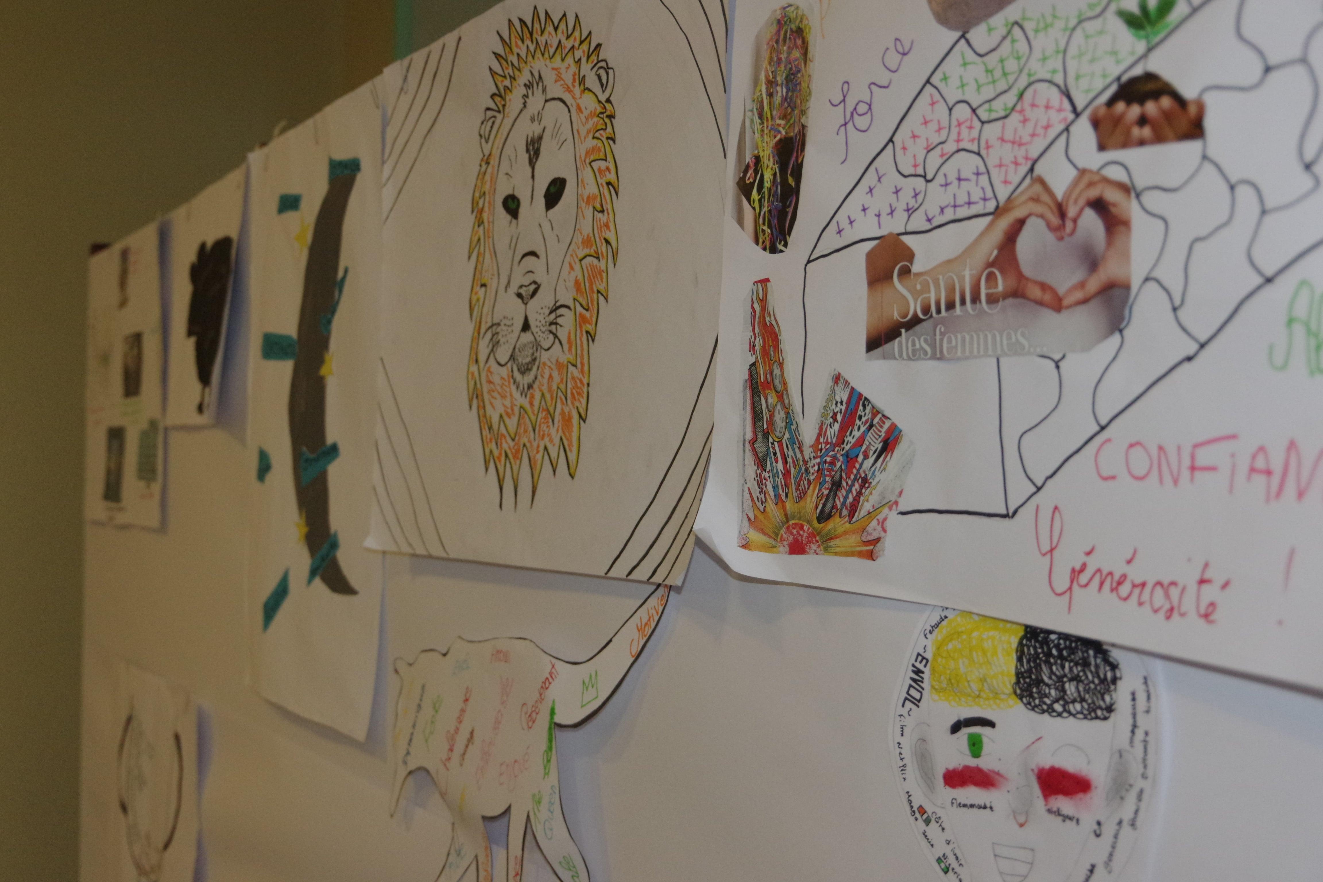 Les œuvres des jeunes en arts créatifs