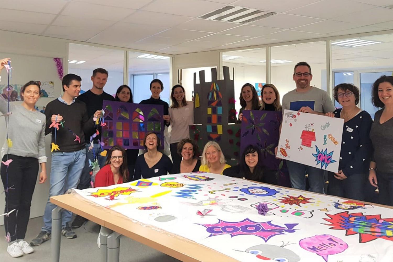 Collaborateurs Servier lors de la journée solidaire Servier à L'ENVOL