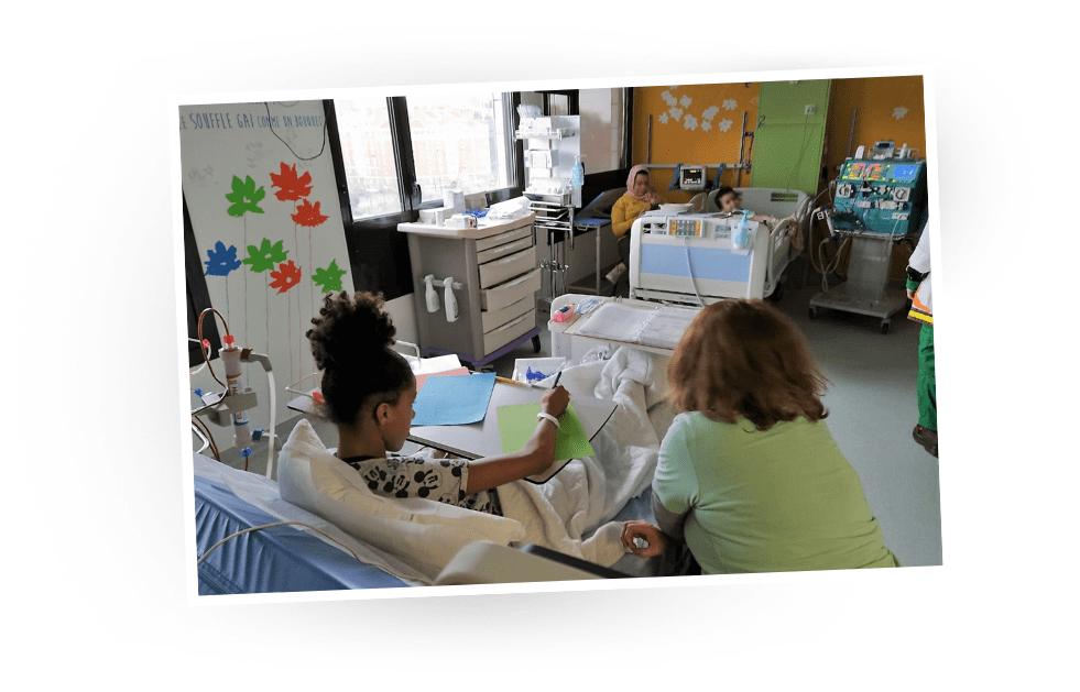 Envolote en atelier stop-motion pendant sa dialyse