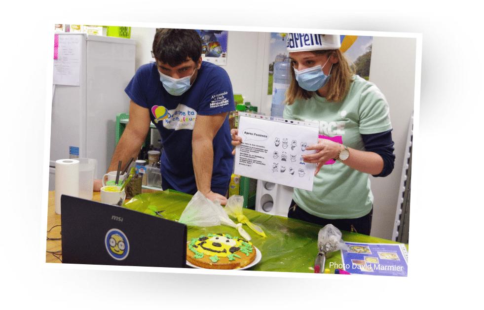 atelier cuisine L'ENVOL en kit live bénévoles